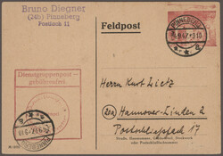 1304020: British Zone Use up Issues - Postal stationery