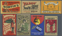 7960: Lots and Collections Vignettes and letter seals - Trading cards