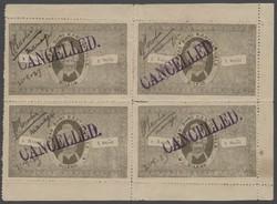 7462: Sammlungen und Posten Indien Feudalstaaten - Verrechnungsmarken