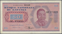 110.550.175: Banknoten - Afrika - Katanga