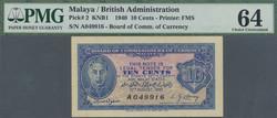 110.570.294: Banknoten - Asien - Malaya