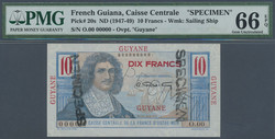 110.560.115: Banknoten - Amerika - Französisch Guiana