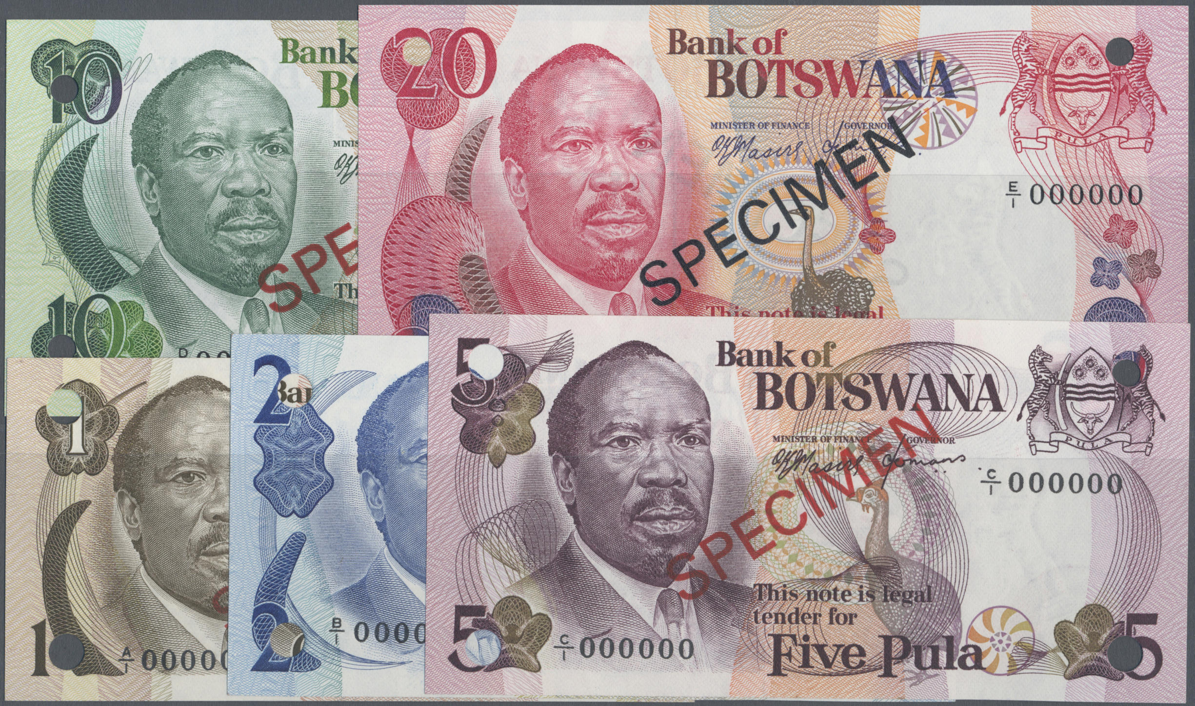 Numissearch com - Banknotes – Africa - Botswana, Michel -