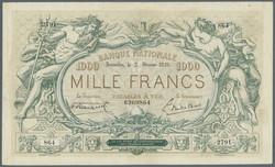 110.40: Banknotes - Belgium