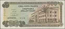 110.550.90: Banknoten - Afrika - Burundi