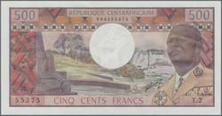 110.550.480: Banknoten - Afrika - Zentralafrikanische Republik