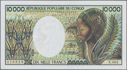 110.550.190: Banknotes – Africa - Congo Republic