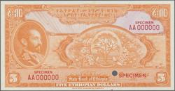 110.550.30: Banknotes – Africa - Ethiopia