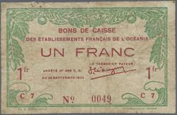 110.580.40: Banknoten - Ozeanien - Französisch Ozeanien (Tahiti etc)
