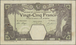 110.550.117: Banknotes – Africa - French West Africa