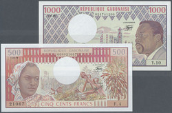 110.550.120: Banknoten - Afrika - Gabun
