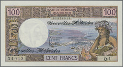 110.580.50: Banknotes – Oceania - New Hebrides