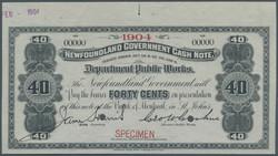 110.560.210: Banknotes – America - Newfoundland