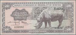 110.550.320: Billets - Afrique - Rwanda Burundi