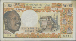 110.550.440: Banknotes – Africa - Chad