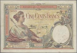 110.560.196: Banknoten - Amerika - Martinique