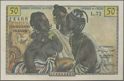 110.550.470: Banknoten - Afrika - Westafrikanische Staaten
