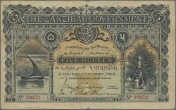 110.550.335: Banknoten - Afrika - Sansibar