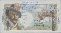 110.560.196: Banknoten - Amerika - Martinique