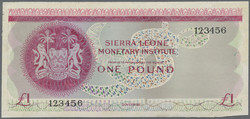 110.550.350: Banknotes – Africa - Sierra Leone
