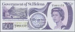 110.550.372: Banknoten - Afrika - St. Helena