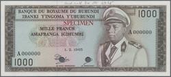 110.550.90: Banknotes – Africa - Burundi