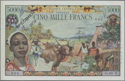 110.550.25: Banknoten - Afrika - Äquatorial-Afrikanische Staaten