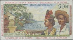 110.560.116: Banknoten - Amerika - Französische Antillen (Guyana, Guadeloupe, Martinique)