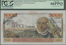 110.560.115: Banknotes – America - French Guiana