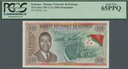 110.550.175: Banknotes – Africa - Katanga