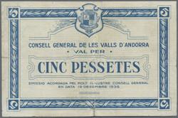 110.30: Banknotes - Andorra