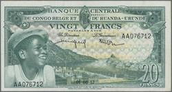 110.550.55: Banknoten - Afrika - Belgisch Kongo
