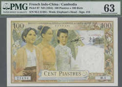 110.570.115: Banknotes – Asia - French Indo-China