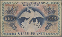 110.560.125: Banknoten - Amerika - Guadeloupe