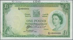 110.550.309: Banknoten - Afrika - Rhodesien und Nyassaland