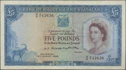 110.550.309: Billets - Afrique - Rhodésie et Nyassaland