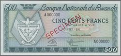 110.550.310: Banknoten - Afrika - Ruanda