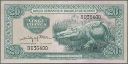 110.550.320: Banknoten - Afrika - Ruanda-Burundi