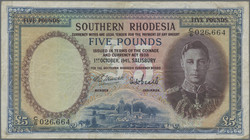 110.550.395: Banknotes – Africa - Southern Rhodesia