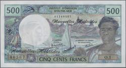 110.580.50: Banknoten - Ozeanien - Neue Hebriden