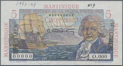 110.560.196: Banknotes – America - Martinique