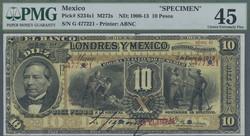 110.560.200: Banknoten - Amerika - Mexiko