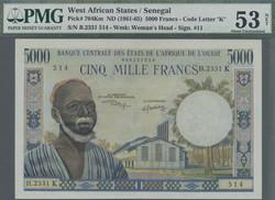 110.550.340: Banknoten - Afrika - Senegal