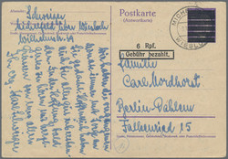 1303020: American Zone Use up Issues - Postal stationery