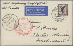 9850: Zeppelin, Zeppelin Postkarten