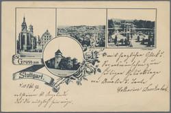 107000: Deutschland West, Plz Gebiet W-70, 700-702 Stuttgart - Postkarten