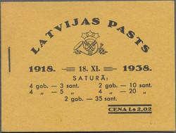 4145: Lettland - Markenheftchen