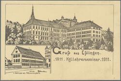 107300: Germany West, Zip Code W-72, 730 Esslingen am Neckar - Picture postcards
