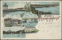 107990: Germany West, Zip Code W-79, 799 Friedrichshafen - Picture postcards