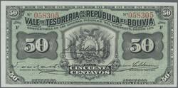 110.560.50: Banknotes – America - Bolivia